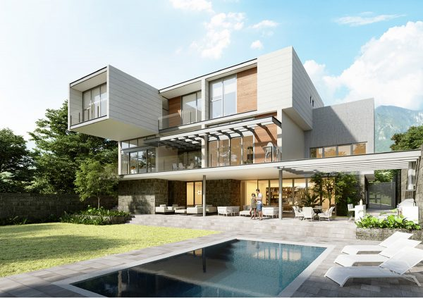 Jardín de Casa Ébanos Diseño Residencial