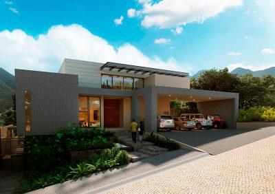 Frente de Casa Ébanos Diseño Residencial