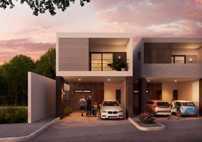 Fachada residencial san gerardo