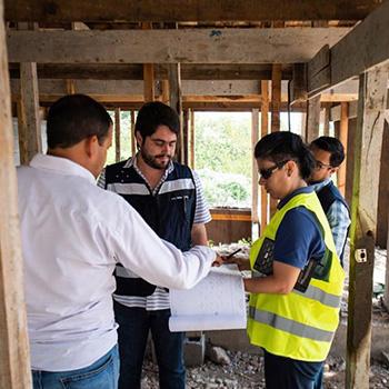 residencial casa en construcción